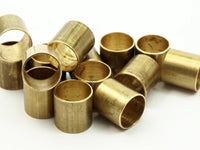Industrial Brass Tube - 12 Raw Brass Industrial Tube Findings, (12x12mm) A0670