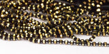 20 M 1.2 Mm Black Gold Brass Faceted Ball Chain  ( Z025 )