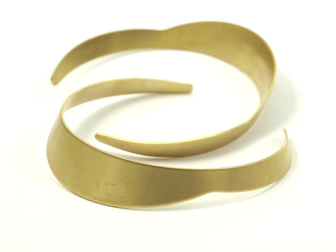Brass Bracelet Blank -4 Raw Brass Cuff Bracelet Bangles Without Holes (4-13x146x0.80mm) Brc031