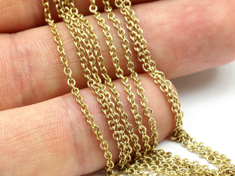 10 M. Raw Brass Soldered Chain (1.7 mm) R17