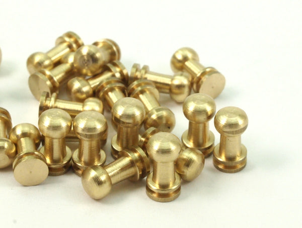 20 Raw Brass Industrial Findings (9x5 Mm)