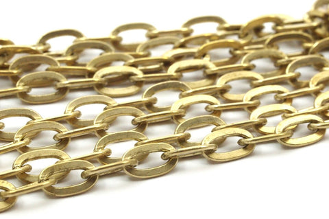 1 M. Raw Brass Soldered Chain (7x4.5mm) Or9255