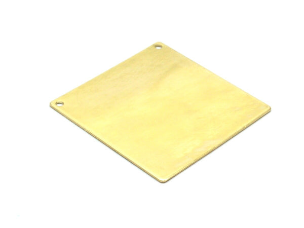5 Raw Brass Square Blanks 2 Holes   (40x40x0.80 Mm)   D278--C102
