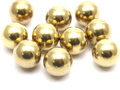 10 Raw Brass Ball Beads Without Holes 15.5 Mm Bs-1099--R001