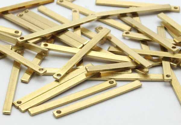 Brass Necklace Bar, 50 Raw Brass Bars(25x2x0.80mm) BS 1198--A0858