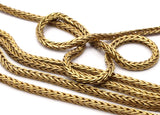 Brass Chain, 2M Raw Brass Square Chain (2.3mm) Bs 1370