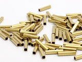 100 Huge Raw Brass Square Tubes  (2x10mm) Bs 1564
