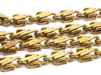 Link Chain, Faceted Chain, Brass Chain, 2 M Faceted Raw Brass Chain (5x3.2mm) Bs 1366