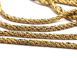 Brass Knitted Chain, 2 M Raw Brass Snake Chain (2.7mm) Bs 1006