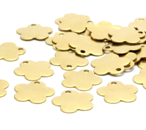 11mm Daisy Tag, Brass Daisy Tag  (11mm)  A0363