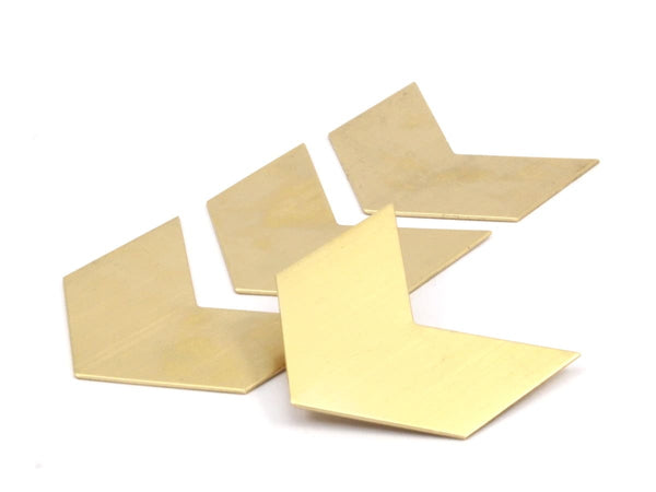 8 Raw Brass Chevron Blanks  (40x25x0.80mm) A0906--N618