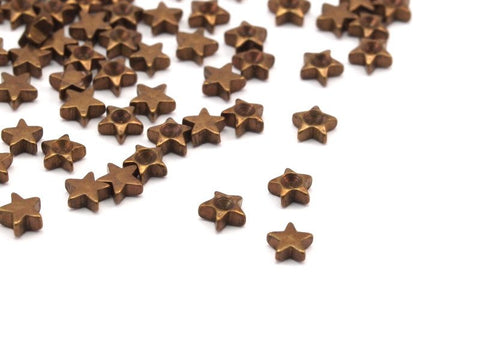 100 Raw Brass Star Setting ( 3mm)