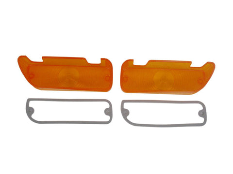1286-L68 Mopar 1968-69 Plymouth GTX and Roadrunner Parking Light Lenses - Mopar Plus Restoration Parts