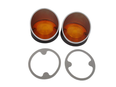 1379-L68 Mopar Dodge Coronet (Superbee) Parking Light Lenses - Mopar Plus Restoration Parts