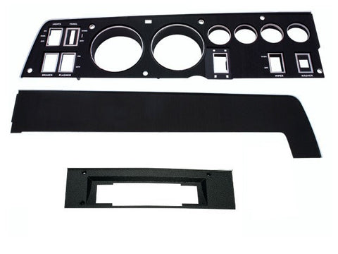 143-8ACSET Mopar 1968 Dodge Charger Rallye Dash Bezel Kit (8 Track - with AC)