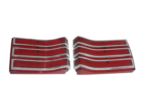 165-66L Mopar 1966 Plymouth Belvedere and Satellite Taillight Lenses - Mopar Plus Restoration Parts