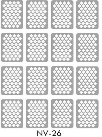 Brand New Vinyl Nail Stickers Quatrefoil NV-26