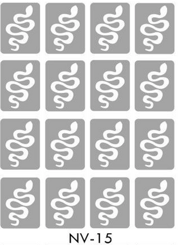 Brand New Vinyl Nail Stickers Snake NV-15