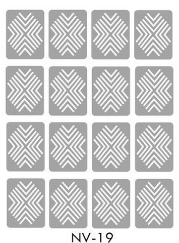 Brand New Vinyl Nail Stickers X-Pattern NV-19