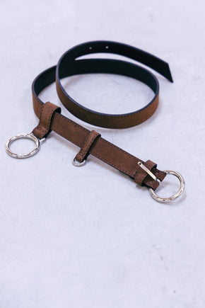 TOBACCO SUEDE BUCKLE BELT Belts KURE