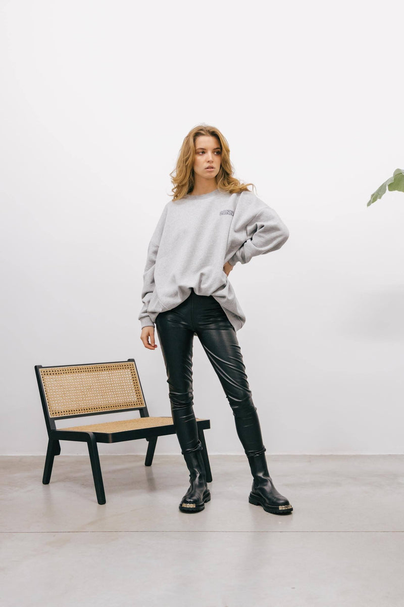 GANNI OVERSIZED SWEATSHIRT IN GREY sweatshirt KURE