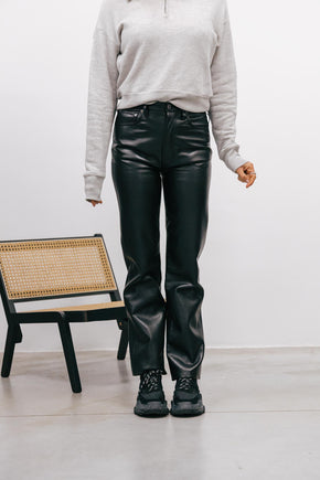 90S FAUX LEATHER PANTS Pants KURE