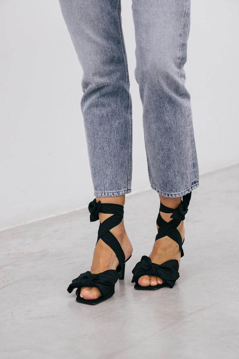 HEELED BOW SANDALS Shoes KURE