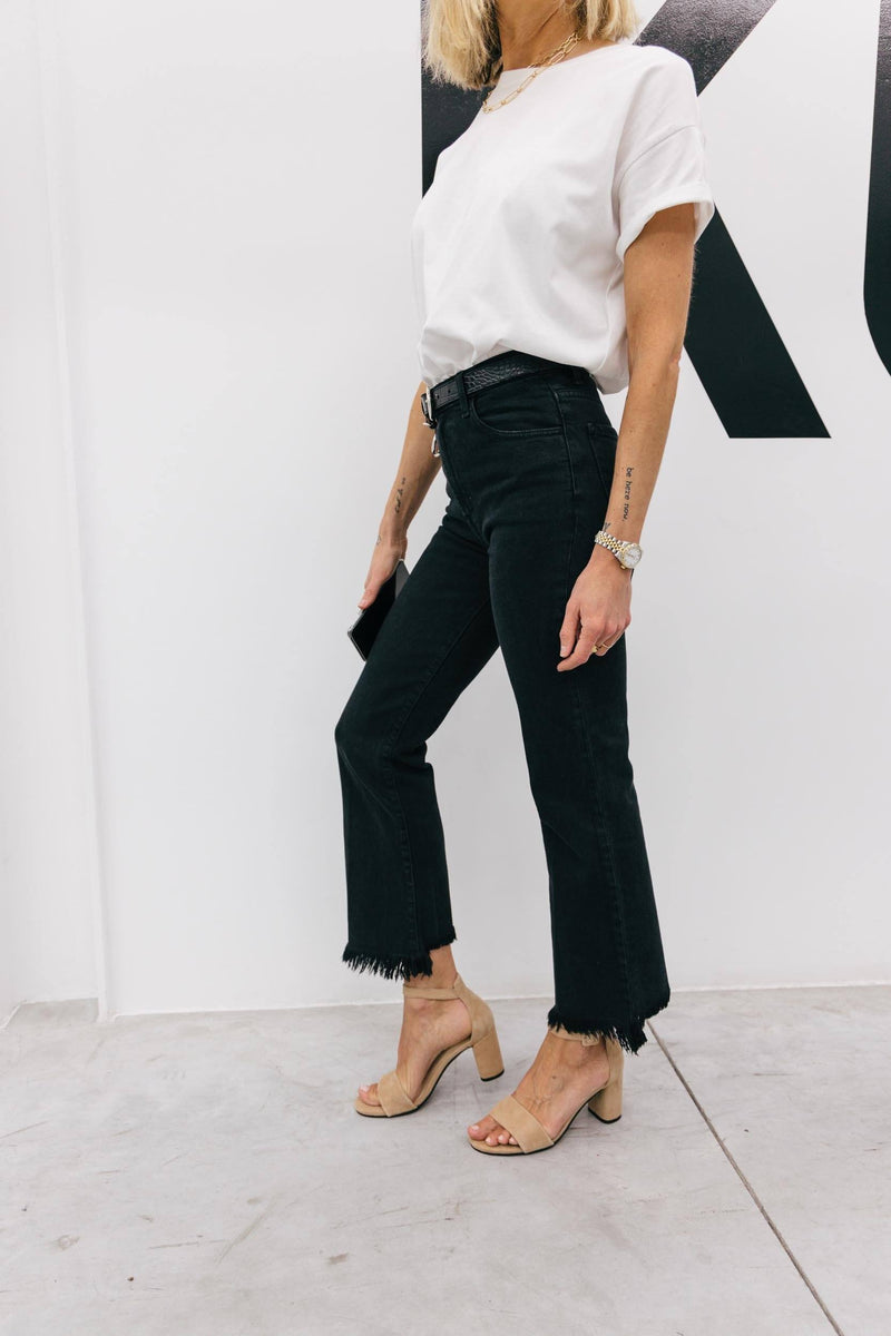 JULIA HIGH RISE CROP FLARE Jeans KURE