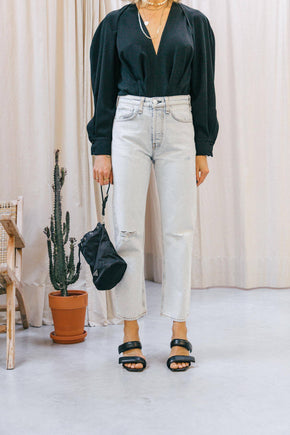 RB-WDD20P2645B1N-MAYA HIGH-RISE ANKLE STRAIGHT-NEVADABLU Jeans KURE