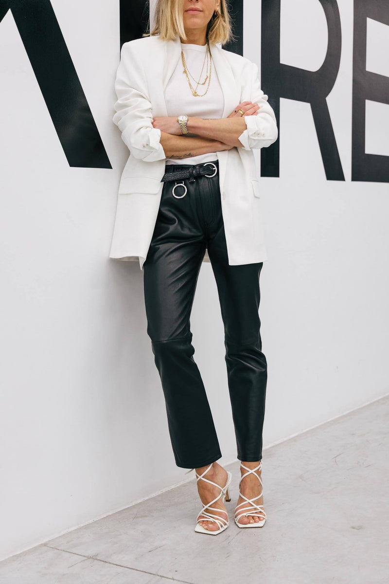 THE 5-POCKETS LEATHER PANTS Trousers KURE