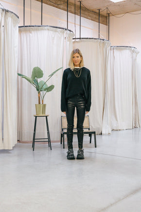 SIMONE MOTO PANTS IN LEATHER pants KURE