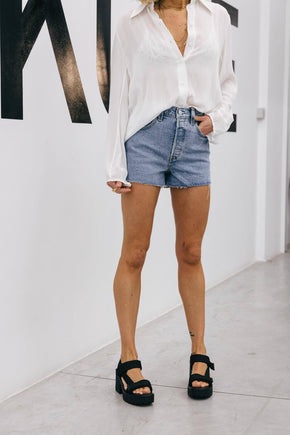 HIGH WAISTED DENIM SHORT IN BLUE Shorts LEVIS