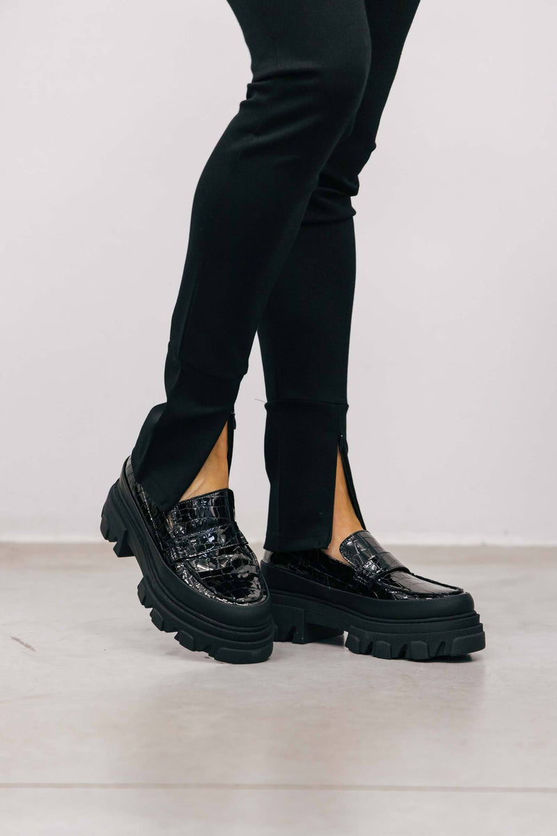 GANNI-S1479-Chunky Loafer-Black Shoes KURE
