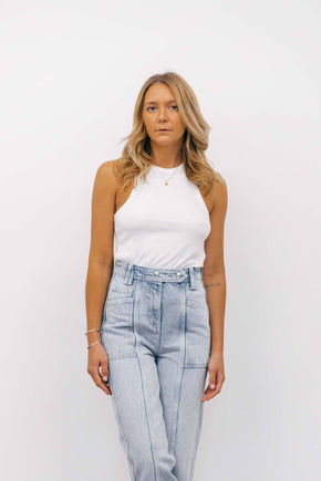 ANINE BING EVA TANK TOP IN WHITE TOP KURE