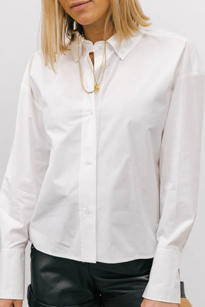 LS-PULAU-COTTON SHIRT-WHITE SHIRT KURE