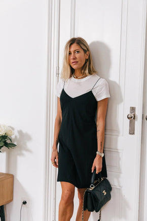 DR-Valerie Slip Dress-Black Dress KURE