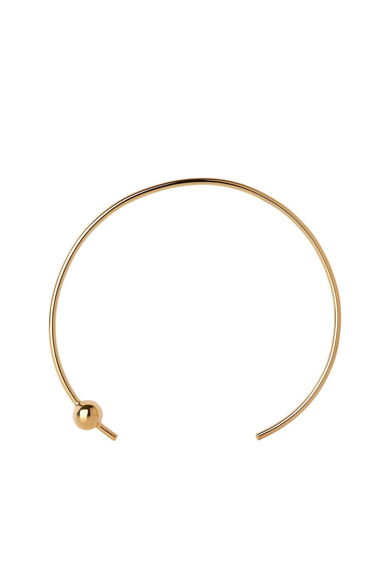 ORION CHOKER GOLD PLATED ACCESSORIES MARIA BLACK