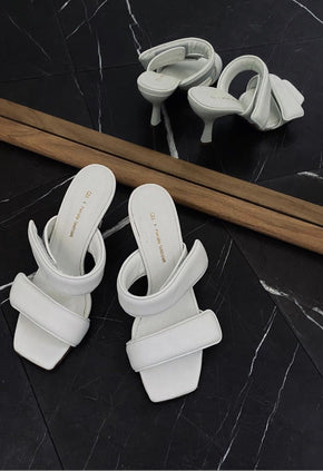 PERNILLE TEISBAEK STRAPPY SANDALS IN WHITE Shoes KURE