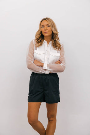 JF-Dayton shirt-WHITE SHIRT JUST FEMALE