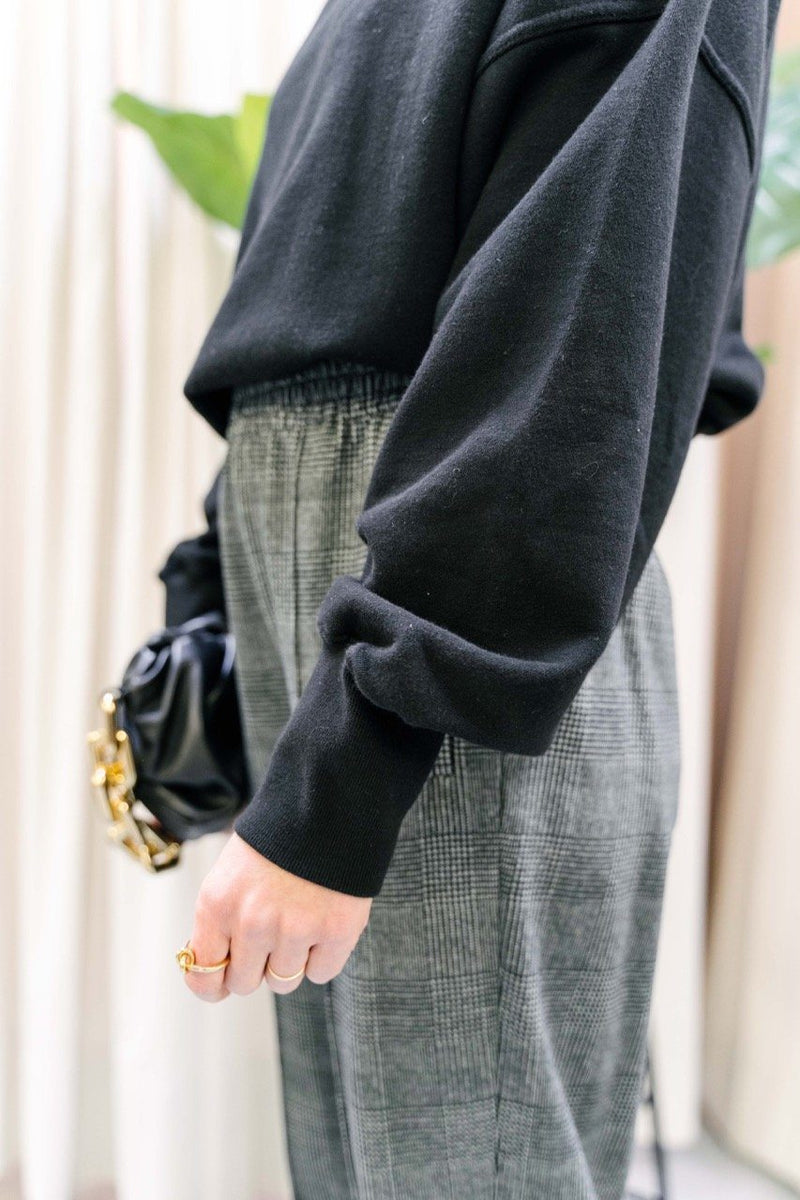 BALLOON SLEEVE TURTLENECK SWEATSHIRT SWEAT KURE
