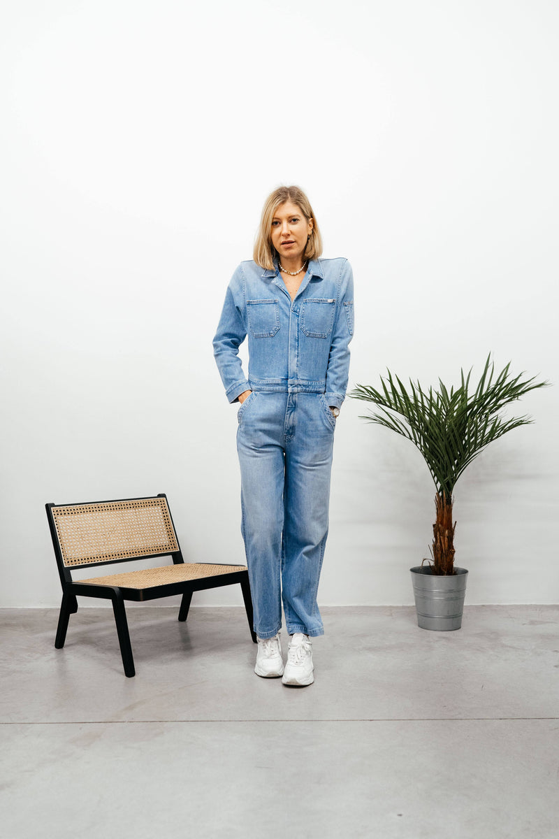 MOTHER-9514Z-624-THE HALF SPRING TAKE-OFF ANKLE-ZAPPED Jumpsuit KURE