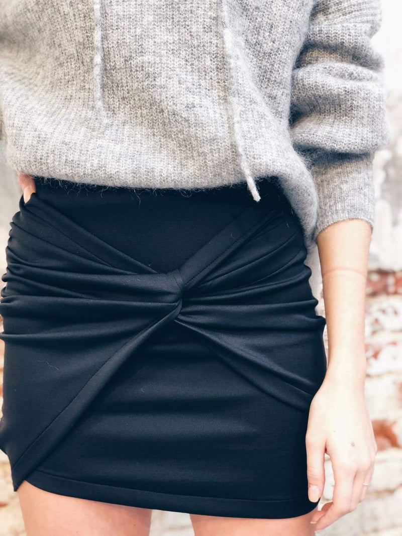 Bowed Mini Skirt