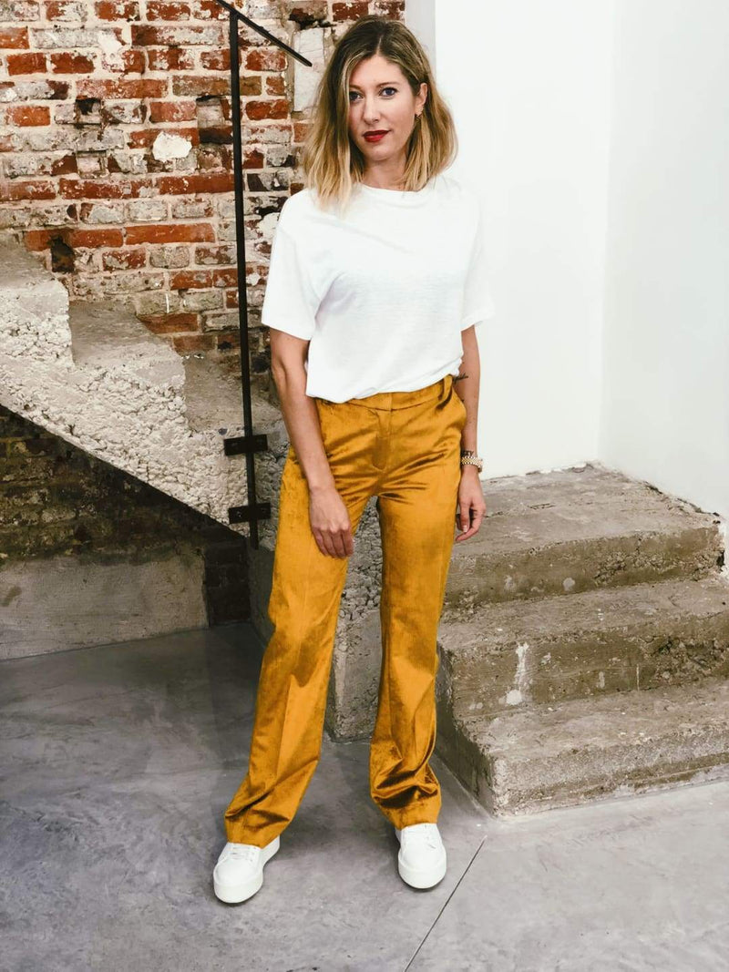 Mustard Corduroy Trousers - Trousers