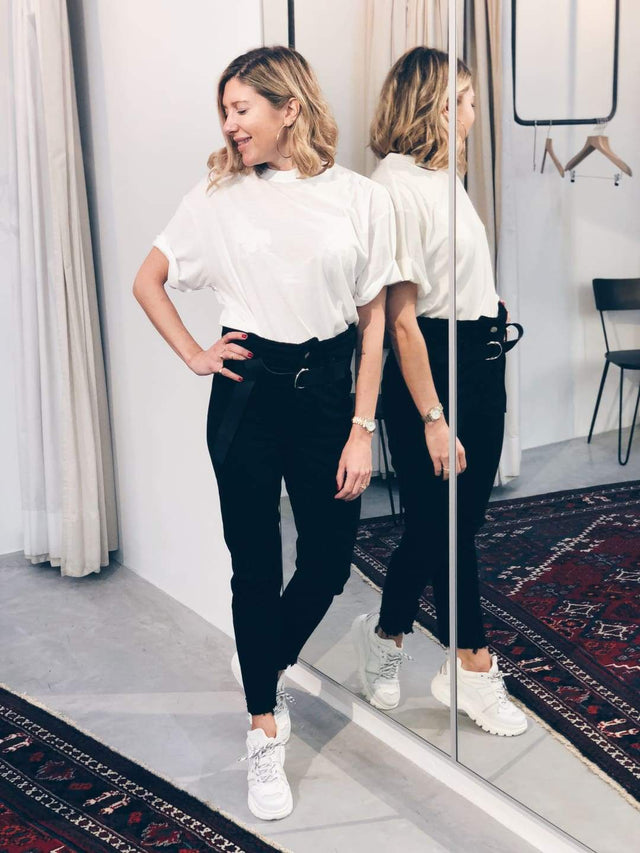 White Slit T-Shirt