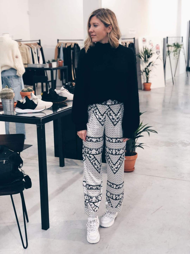 Wide Printed Pants