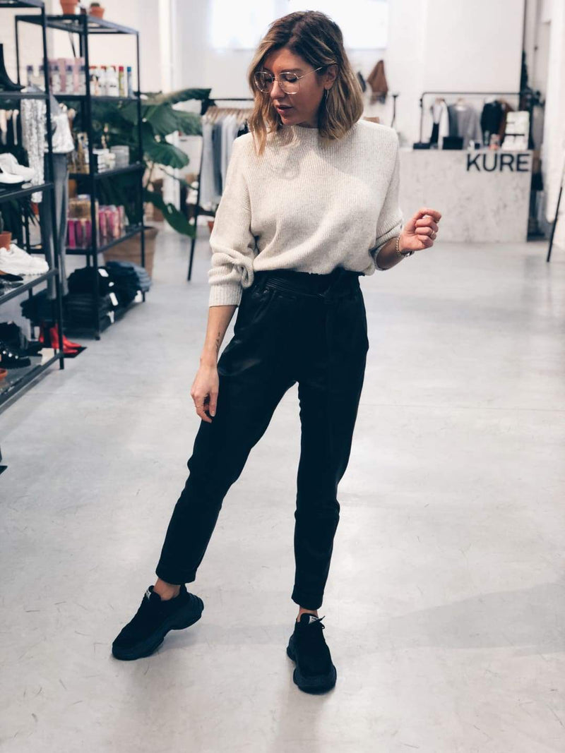Wool Blend Off White Jumper
