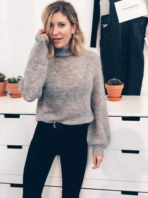 Wool Blend Turtleneck Sweater