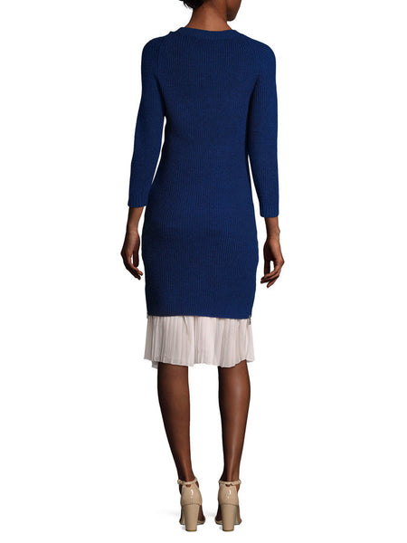 Cecilia Sweater Dress Royal Blue