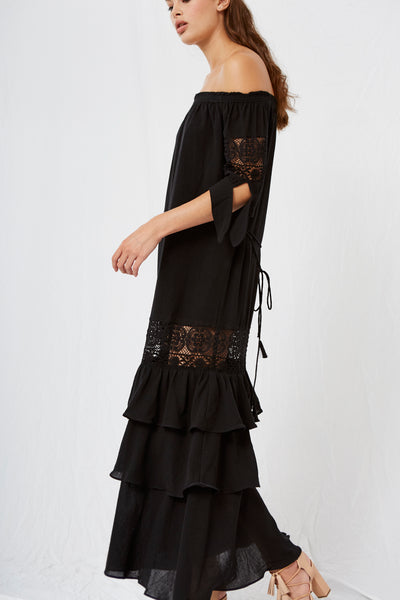 Maurina Off the Shoulder Maxi Black SOLD OUT