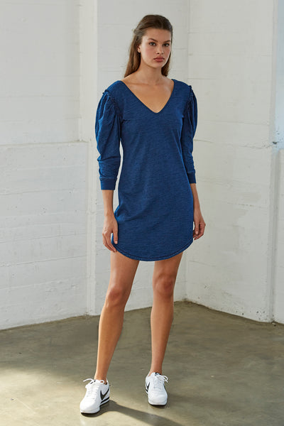Roland Puff Sleeve Indigo Dress SOLD OUT